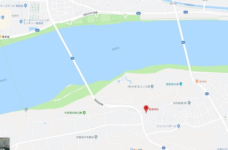 敬満神社場所・島田市